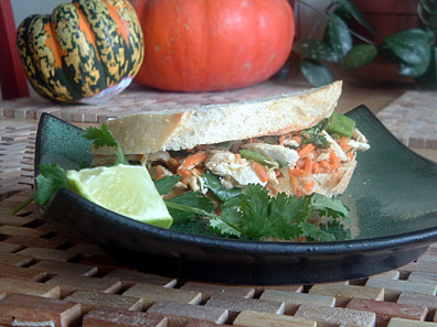 Thai Style Turkey Sandwich