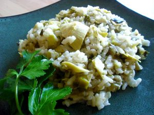 Risotto with Artichokes and Leeks