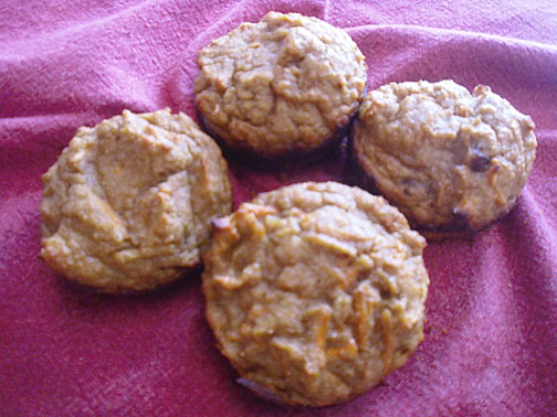Carrot Chicken Muffins adapted from Elana's recipe