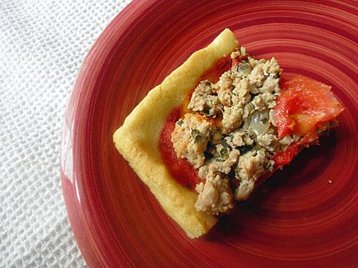 Gluten free and grain free pizza