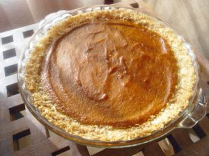 Grain and Gluten-free Pumpkin Pie with Coconut Crust